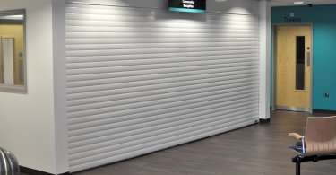 White K55 roller shutter used in a community center