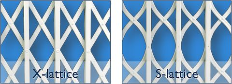 x and s lattice option for the barricade security grille