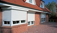 Roller shutters on domestic property.