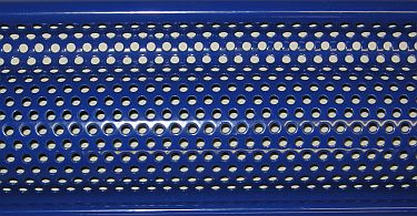 Roller shutter lath close-up.