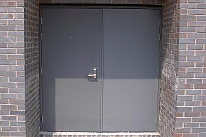 Personnel door set into a wall.