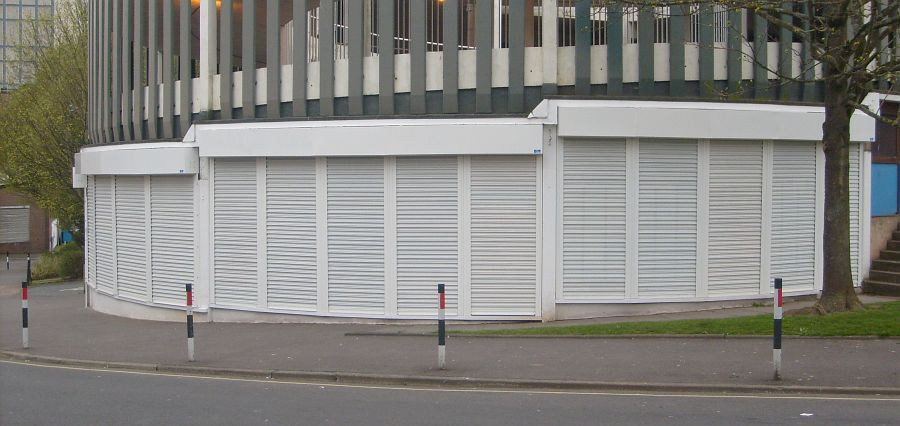 Carpark security roller shutters
