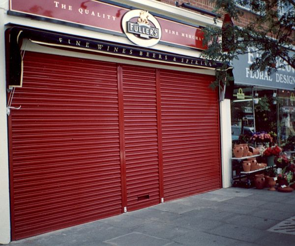 Screenguard roller shutter at a shopfront.
