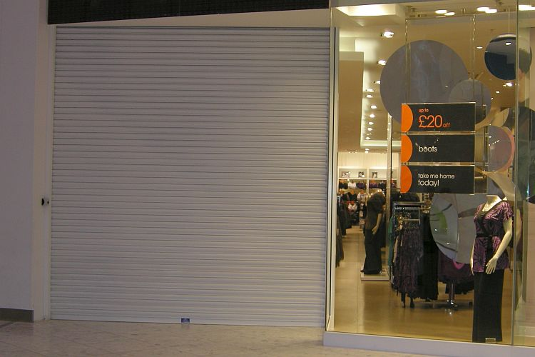 Screenguard shopfront roller shutter.