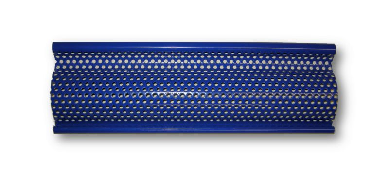 A piece of standard viewguard profile, powder-coated blue.