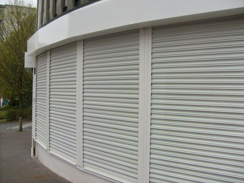 Viewguard roller shutters seen from the side